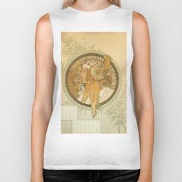 "Alphonse Mucha ""Byzantine Head: The Blonde"" Biker Tank"