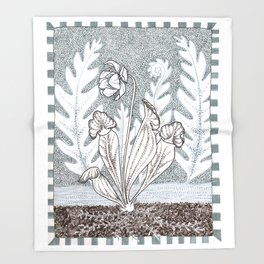 Pitcher Plant Throw Blanket