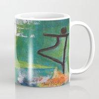 yoga Mugs featuring YOGA by Prema Designs