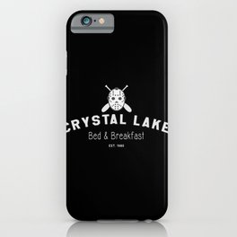 Crystal Lake Bed & Breakfast, Former Camp Crystal, Est.1980, Design for Wall Art, Posters, Tshirts, Men, Women iPhone Case