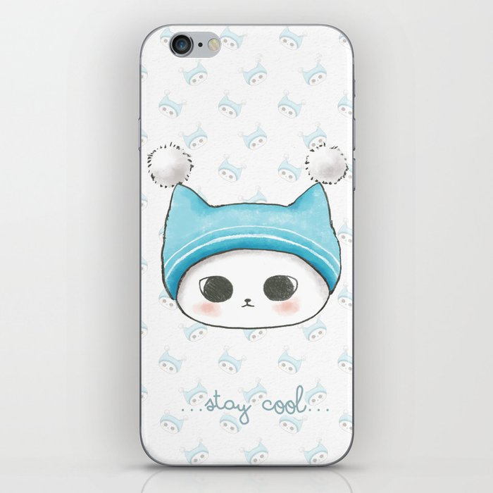 Stay Cool Cat Background Wallpaper Iphone Skin By Monkeypim Society6