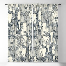 just cattle indigo pearl Blackout Curtain
