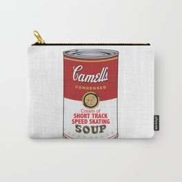 Camell's Soup CREAM OF SHORT TRACK SPEED SKATING Pop Art Carry-All Pouch