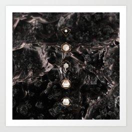 Platonic Solids // Silk Art Print