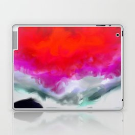 Abstract in Red, White and Purple Laptop & iPad Skin