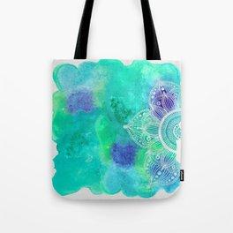Ice Mandala Tote Bag
