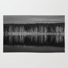 Idyllic summer landscape with crystal clear lake Rug