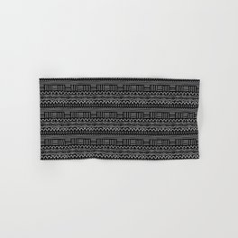 Mud Cloth on Black Hand & Bath Towel