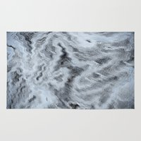 monet Area & Throw Rugs featuring Monet Style Blue abstract by David Pyatt