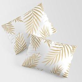 Gold palm leaves Pillow Sham