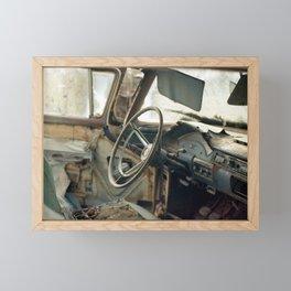 Tired Car. Framed Mini Art Print