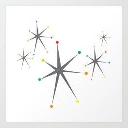 Atomic stars Art Print