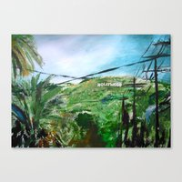 hollywood Canvas Prints featuring Hollywood by James Peart