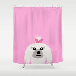 Maltese dog Shower Curtain