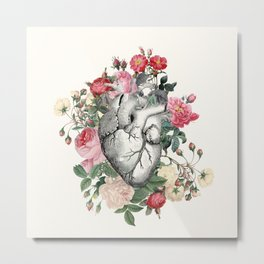 Roses for her Heart Metal Print
