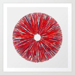 #210 rays Art Print