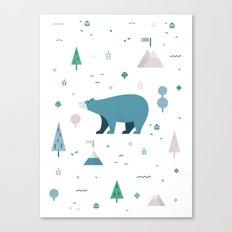 Bear-y Nice to Meet You Canvas Print