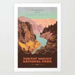 Tuktut Nogait National Park Art Print