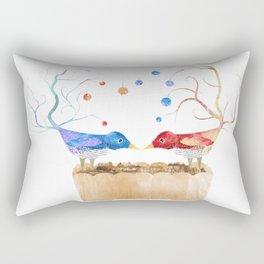 Two Birds in Love Rectangular Pillow