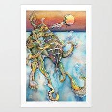Zulu Blue Ringed Octopus Art Print
