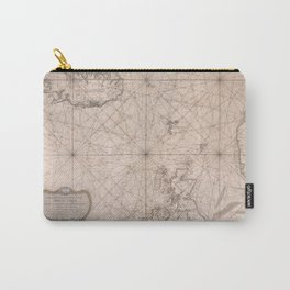 Portolan map of the North Sea, the Norwegian Sea with adjacent coast and countries 1768 Carry-All Pouch