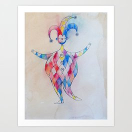 Theatre sketches - characters & costumes Art Print