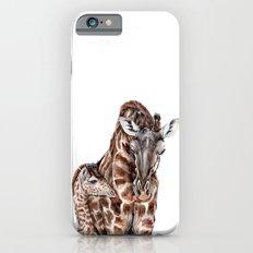 Giraffe with Baby Giraffe Slim Case iPhone 6s