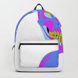 Neon Pixel Psychaedelic Halloween Skull  Backpack