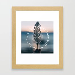Psalm 91: He shall cover thee with his feathers Framed Art Print