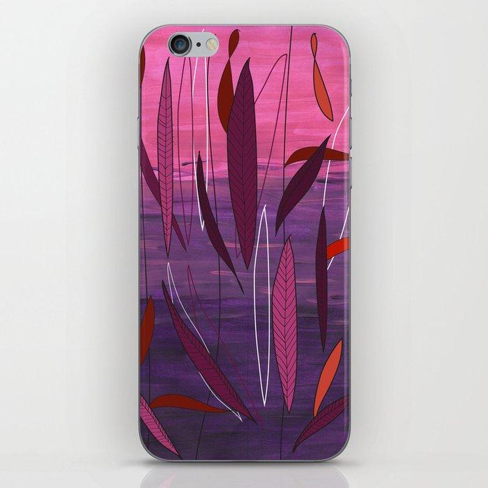 Pretty fall in Plum  iPhone Skin