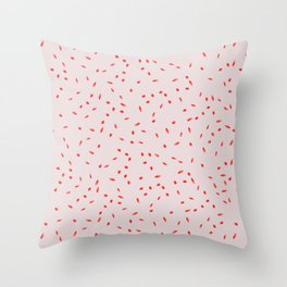 RED SPRINKLES Throw Pillow