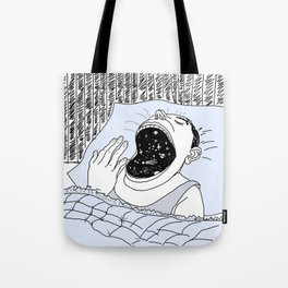 man and the cosmos Tote Bag
