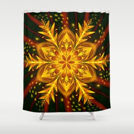 Forest Fire Flake Shower Curtain
