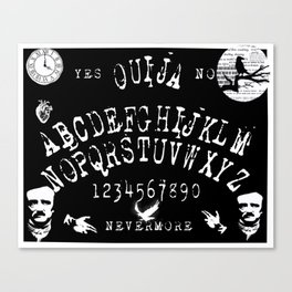 Edgar Allan Poe Ouija Board Art Canvas Print