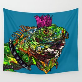 Punk Iguana Wall Tapestry