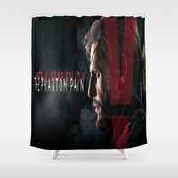 metal gear solid Shower Curtains featuring metal gear solid V  , metal gear solid V  games, metal gear solid V  blanket by Eirarose