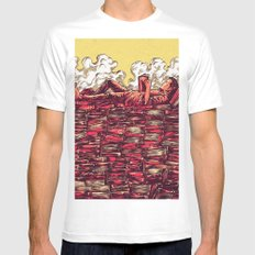 The Book Lover White MEDIUM Mens Fitted Tee