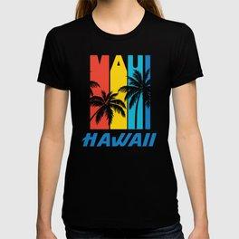 Retro Maui Hawaii Palm Trees Vacation T-shirt