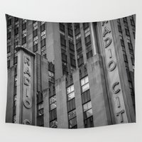 radio Wall Tapestries featuring Radio City by MikeMartelli