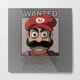 Wanted plumber Metal Print