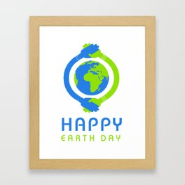 Happy Earth Day T Shirt Framed Art Print