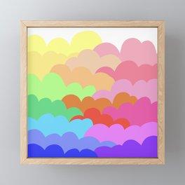 rainbow clouds Framed Mini Art Print