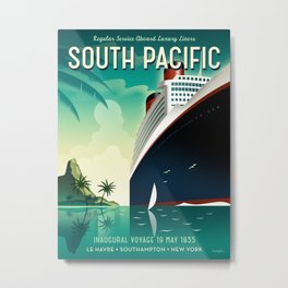 South Pacific ship travel poster Metal Print