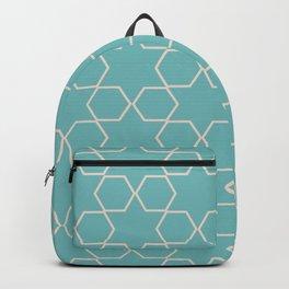 Blue Hexagonal Seamless Pattern  Backpack