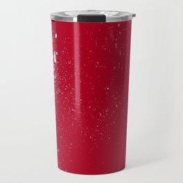 red dark raspberry white splat splatter splash colour palette Travel Mug