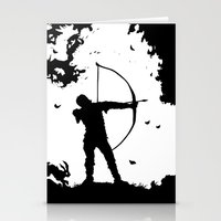 robin hood Stationery Cards featuring The Ballad Of Robin Hood by thehangingbadger