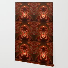 Fractal Mysterious, Warm Colors Are Shining Wallpaper