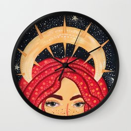 floating goddess Wall Clock