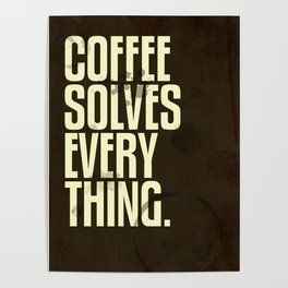 Coffee 2: Typography Poster