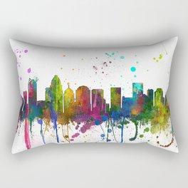 Charlotte, North Carolina Skyline Rectangular Pillow